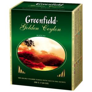 Гринфилд Голден Цейлон — 100 пакетиков